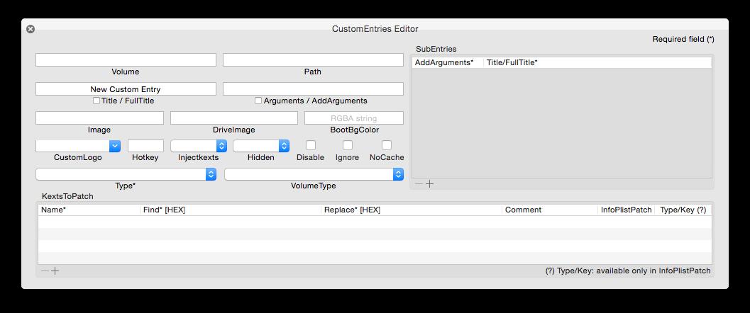 Clover :: Clover Configurator :: Custom entries - Clover